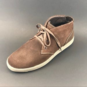 Skechers Mens Lace Up Brown Leather Shoe Sz 11